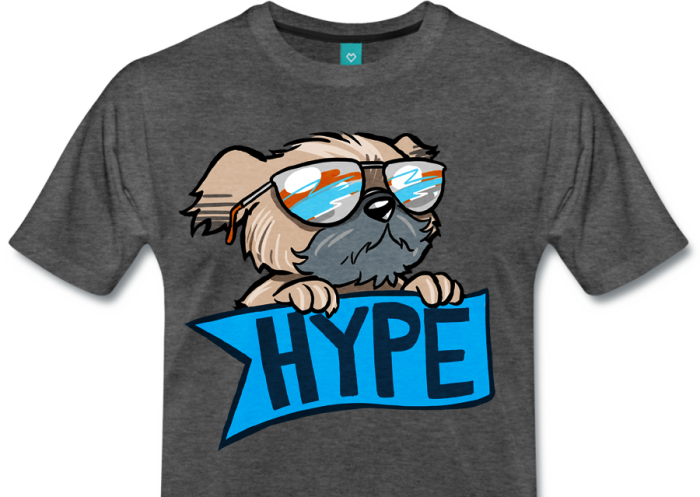 Premium Shirt with Hype Dog print